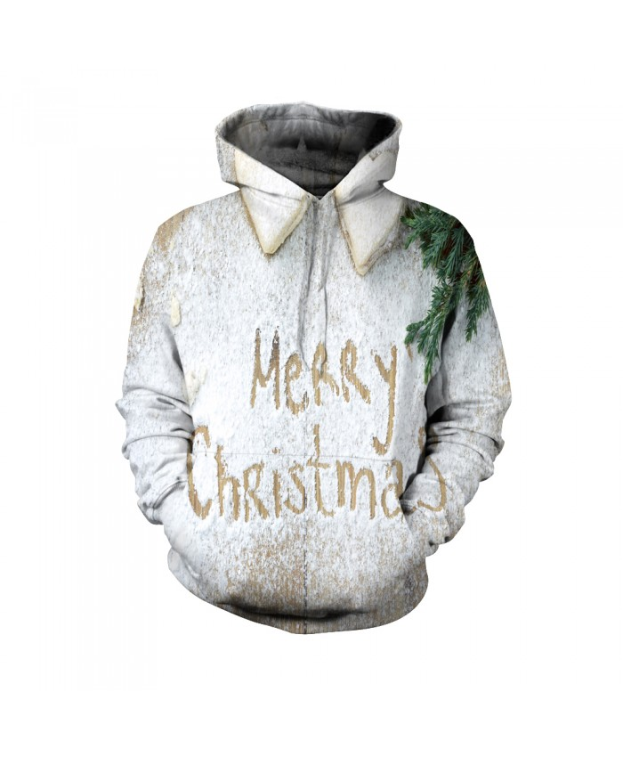 Fashion Christmas Hoodie Sweatshirt Winter Warm Female Christmas Funny Merry christmas white pattern 3D Casual Hoodie Clothing