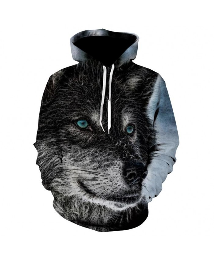 Fashion Cool Black wolf Hoodies Men Women Thin 3D Sweatshirts with Hat Animal Print Black wolf Hoodie Sweatshirt Mens Tracksuit Jackets