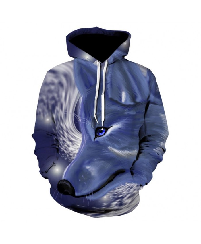 Fashion Cool Blue wolf Hoodies Men Women Thin 3D Sweatshirts with Hat Animal Print Blue wolf Hoodie Sweatshirt Mens Tracksuit Jackets