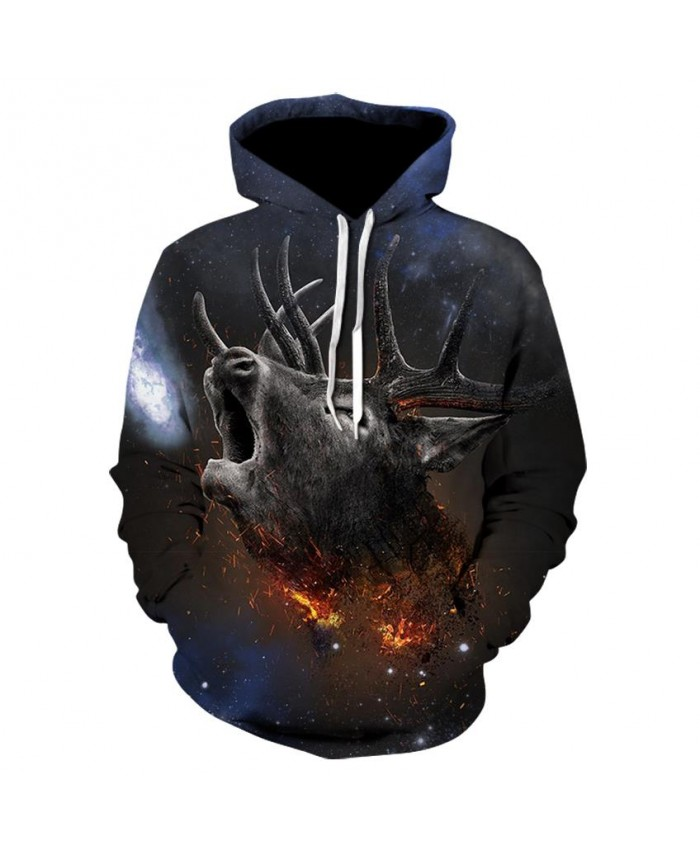 Fashion Cool Bucks Hoodies Men Women Thin 3D Sweatshirts with Hat Animal Print Bucks Hoodie Sweatshirt Mens Tracksuit Jackets