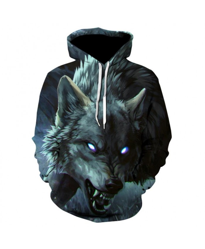 Fashion Cool Evil wolf Hoodies Men Women Thin 3D Sweatshirts with Hat Animal Print Evil wolf Hoodie Sweatshirt Mens Tracksuit Jackets