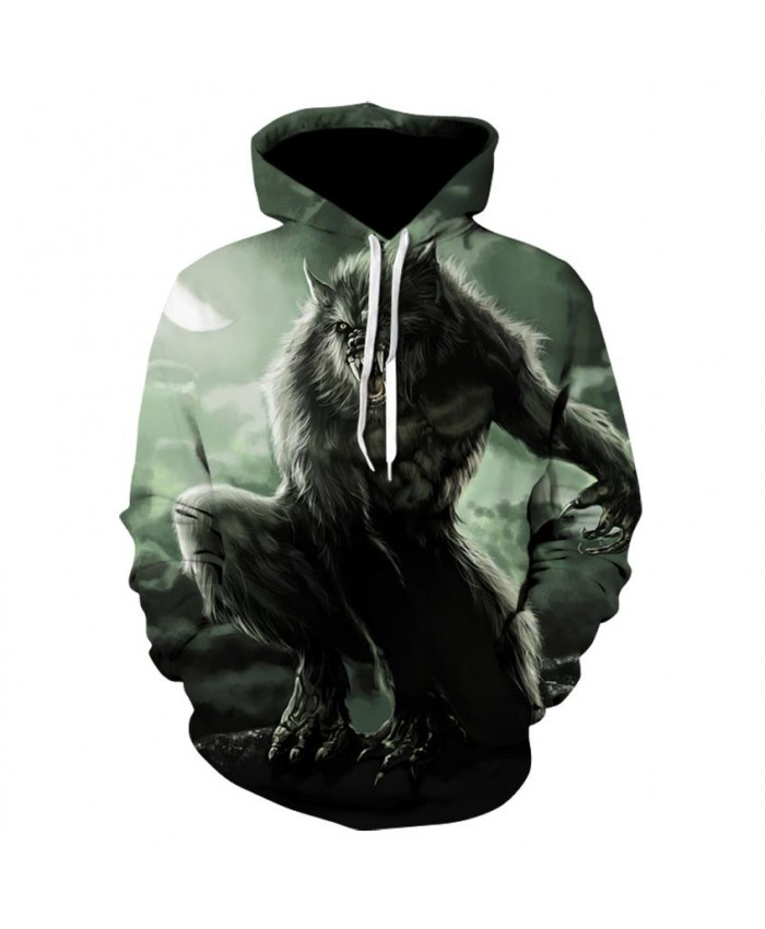 Fashion Cool Evil wolf Hoodies Men Women Thin 3D Sweatshirts with Hat Animal Print Evil wolf Hoodie Sweatshirt Mens Tracksuit Jackets A
