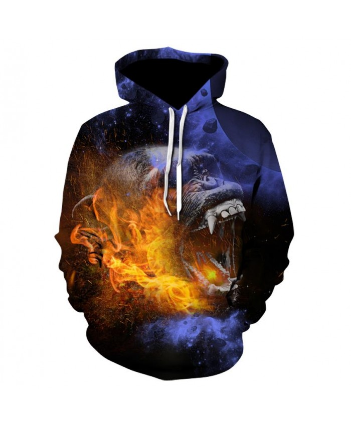 Fashion Cool Fire burning orangutan Hoodies Men Women Thin 3D Sweatshirts with Hat Animal Print Hoodie Sweatshirt Mens Tracksuit Jackets