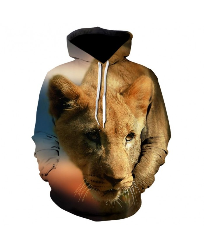 Fashion Cool Lion Hoodies Men/Women Thin 3D Sweatshirts with Hat Animal Print Lion Hoodie Sweatshirt Mens Tracksuit Jackets