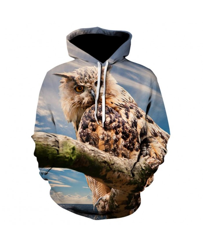 Fashion Cool Owl Hoodies Men Women Thin 3D Sweatshirts with Hat Animal Print Owl Hoodie Sweatshirt Mens Tracksuit Jackets