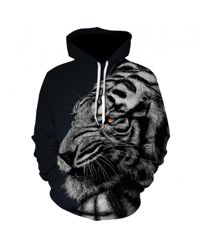Fashion Cool White tiger Hoodies Men Women Thin 3D Sweatshirts with Hat Animal Print White tiger Hoodie Sweatshirt Mens Tracksuit Jackets
