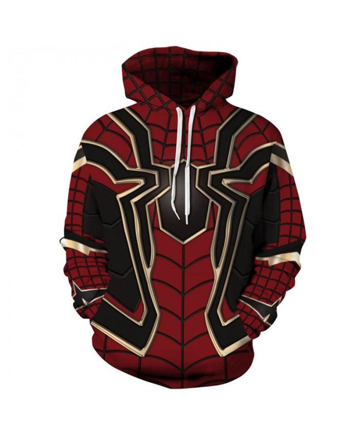 Fashion Cosplay Spider Man Hooded Sweatshirt Cool Streetwear Pullover