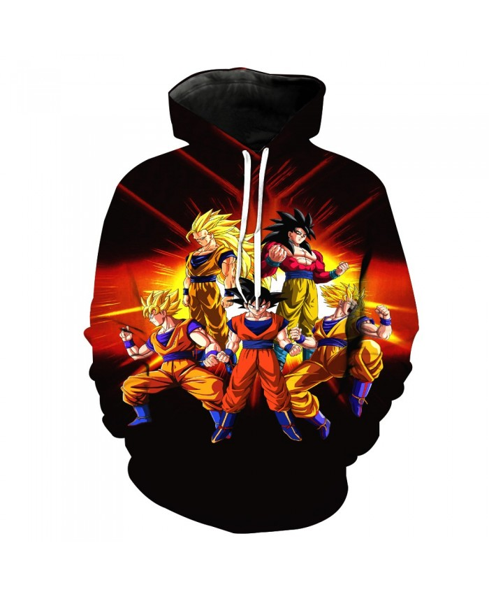 Fashion Dragon Ball Z Goku Pocket Pullover Hoody Men/Women Hip Hop Print 3D Sweatshirt Character Hoodie Tracksuits S-6XL