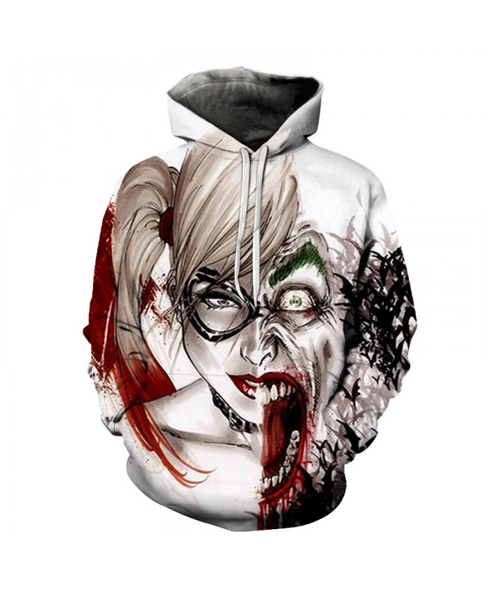 Fashion Harajuku Harley Quinn Thin Cap Sweatshirts 3d Print Men/women All huan Hooded Hoodies Casual Hoody 2019 Tops jacket