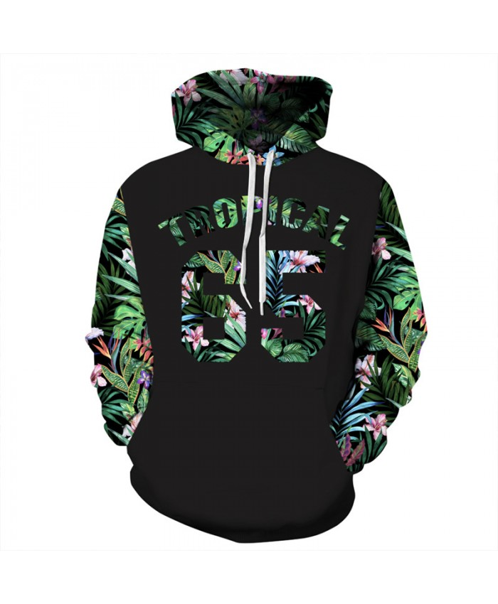 Fashion Hoodie Green Leaf Sleeves Letter 65 Printing Cool Hip Hop Hooded Sweatshirt Men Women Color Sportswear
