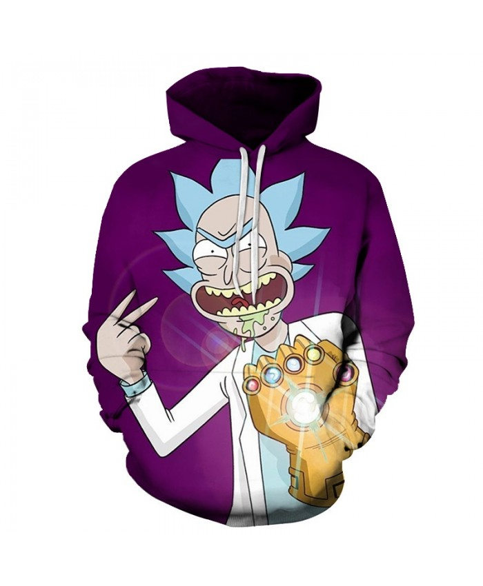 Fashion Hoodies Men Women Sweatshirts Rick and Morty 3D Pullover Streetwear Hoody Anime Tracksuits Autumn DropShip