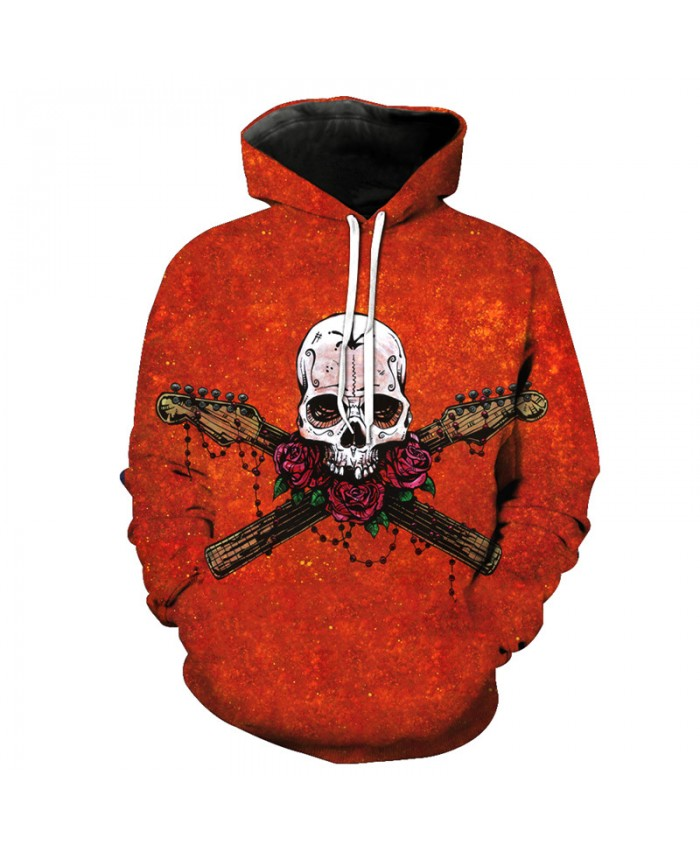 Fashion Hoodies Rose Skull Red Sweatshirt Tracksuit Pullover Hooded Sweatshirt