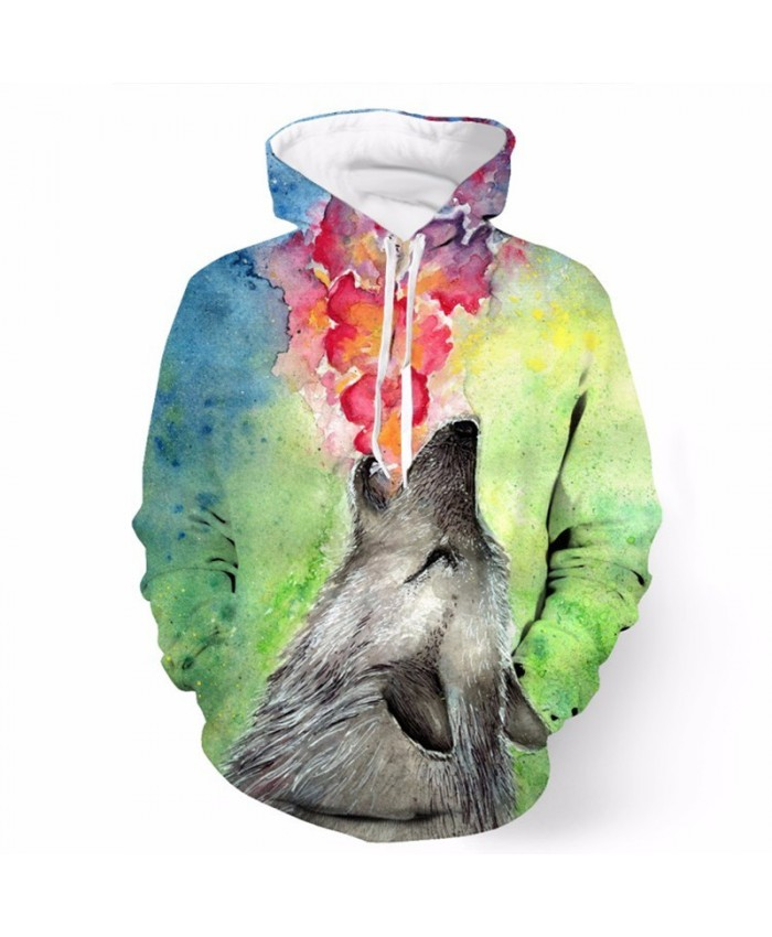 Fashion Jet Rainbow Flame Printed Cool Hooded Sweatshirt Tracksuit Pullover Hooded Sweatshirt
