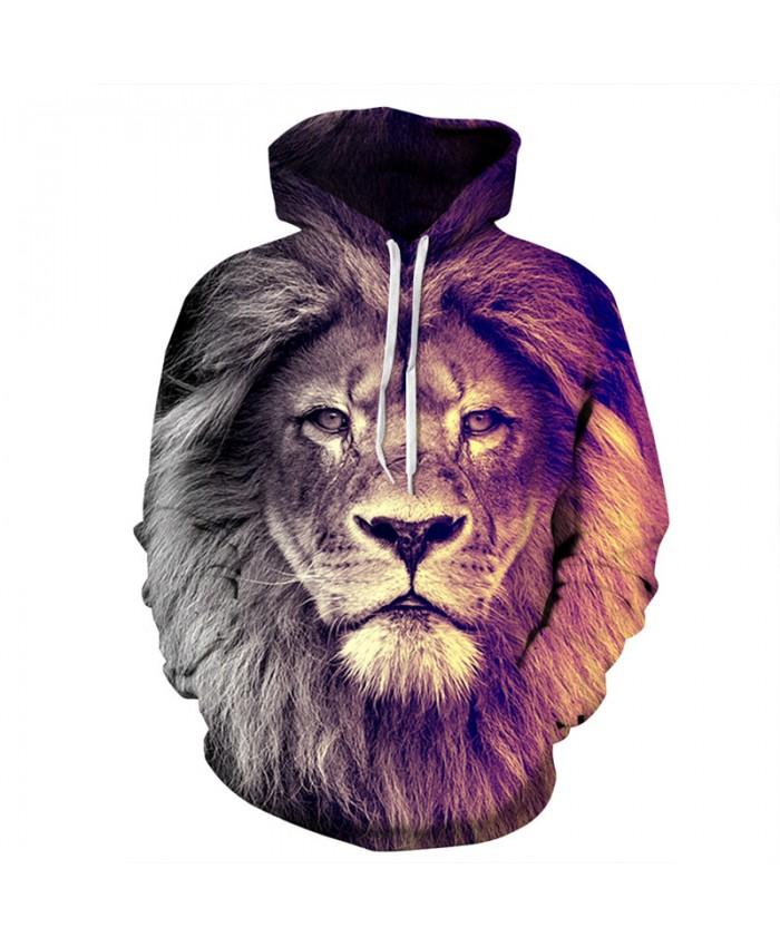 Fashion Men's 3D Hooded Sweatshirt Lion Printing Casual Pullover Casual Hoodies Casual Hoodie Autumn Tracksuit Pullover Hooded Sweatshirt