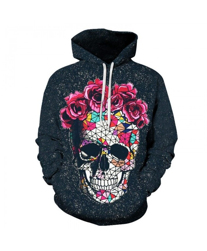 Fashion Mens Hoodie Casual Pullovers Skull Men hoodies Harajuku Long Sleeve Anime Streetwear