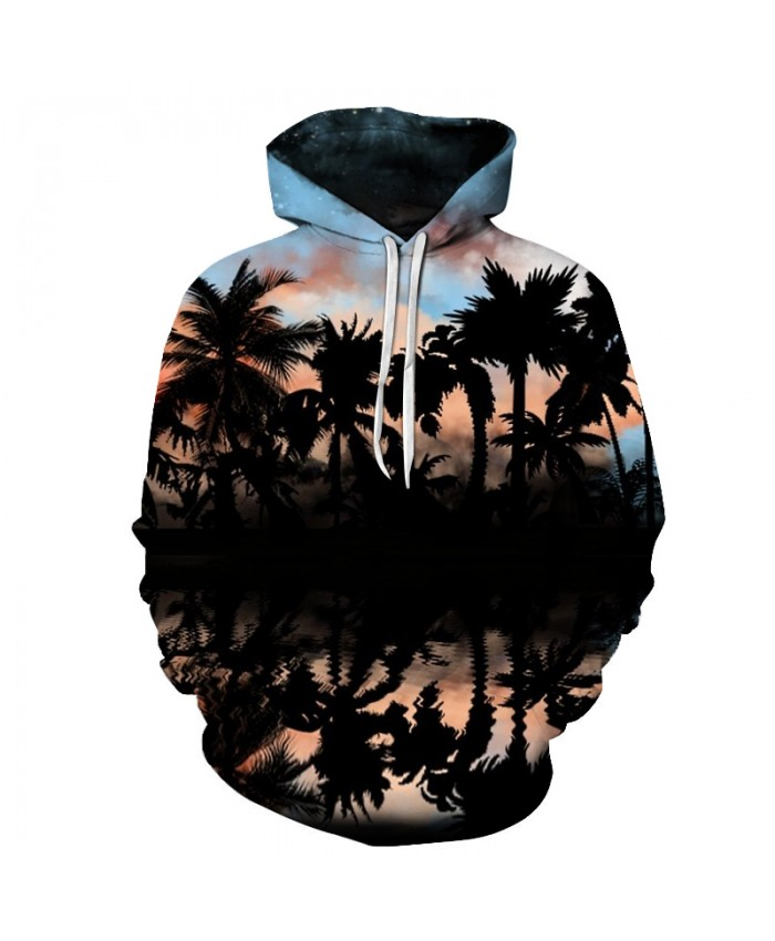 Fashion Palm Tree Printed 3D Unisex Hoodie Sweatshirts Pullover Hooded Jackets Novelty Streetwear Skateboard Tracksuits S-6XL