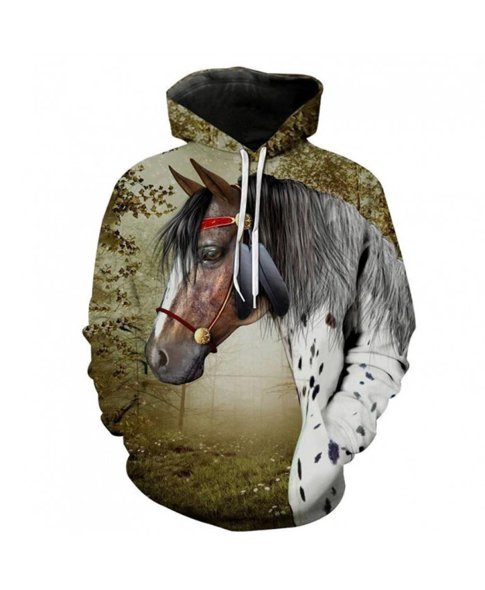 Fashion Sweatshirt Men Women 3d Hoodies Print Horse Animal Pattern Unisex Outerwear Hooded Spring Hoodies G