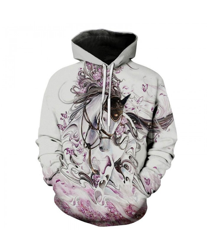 Fashion Sweatshirt Men Women 3d Hoodies Print Horse Animal Pattern Unisex Outerwear Hooded Spring Hoodies H