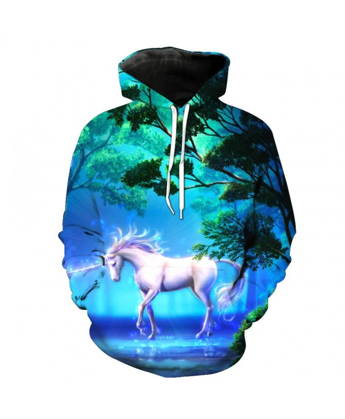 Fashion Sweatshirt Men Women 3d Hoodies Print Horse Animal Pattern Unisex Outerwear Hooded Spring Hoodies P