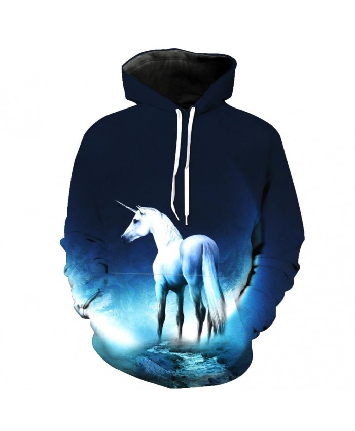 Fashion Sweatshirt Men Women 3d Hoodies Print Horse Animal Pattern Unisex Outerwear Hooded Spring Hoodies Q