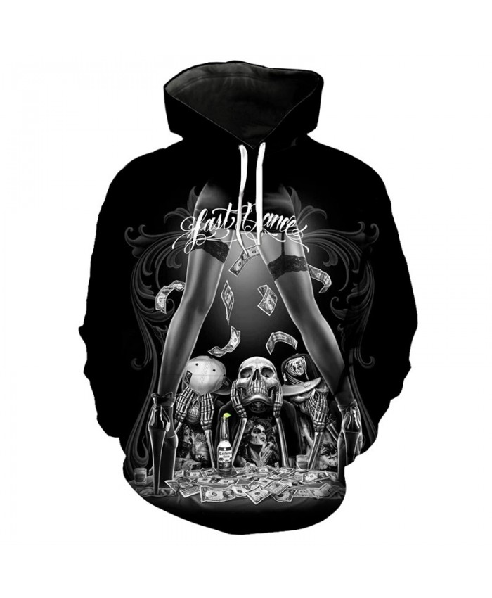 Fashion hoodie skull undead club fashion hooded pullover Tracksuit Pullover Hooded Sweatshirt