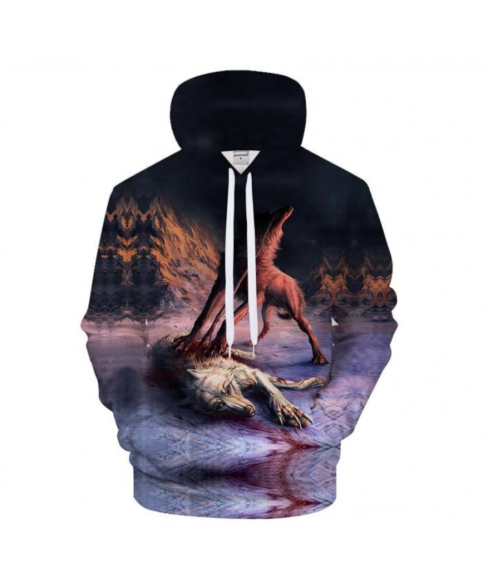 Ferocious Wolf 3D Printing Hoodies Mens Hoody Sweatshirt 2021 Autumn Mens Clothing Tracksuit Pullover Drop Ship