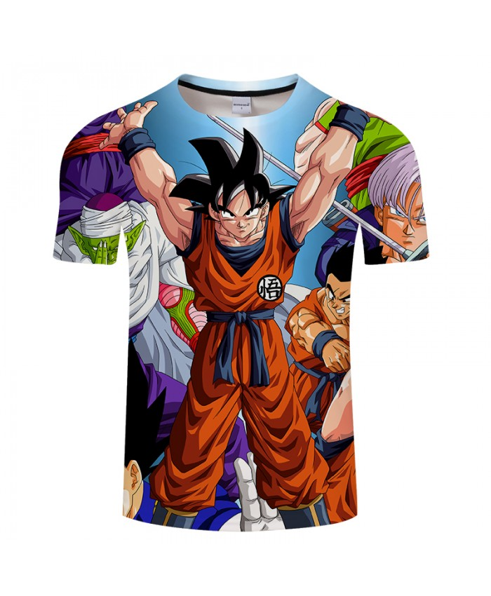 Fighting Goku 3D Print T shirt Men Dragon Ball Spring Summer Anime Short Sleeve Boy Tops&Tee Tshirts Drop Ship