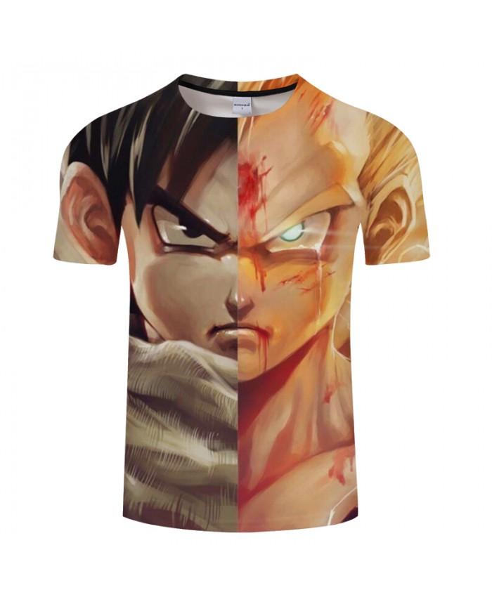 Figure 3D Print T shirt Men Women Summer Anime Short Sleeve Dragon Ball Casual Tops&Tees Tshirts Plus Size Drop Ship