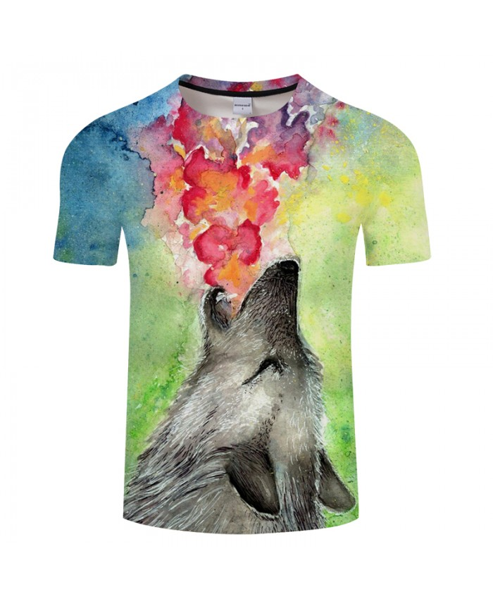 Fire&Angry Wolf 3D Print t shirt Men Women tshirts Summer Funny Short Sleeve O-neck Tops&Tees Streetwear Drop Ship