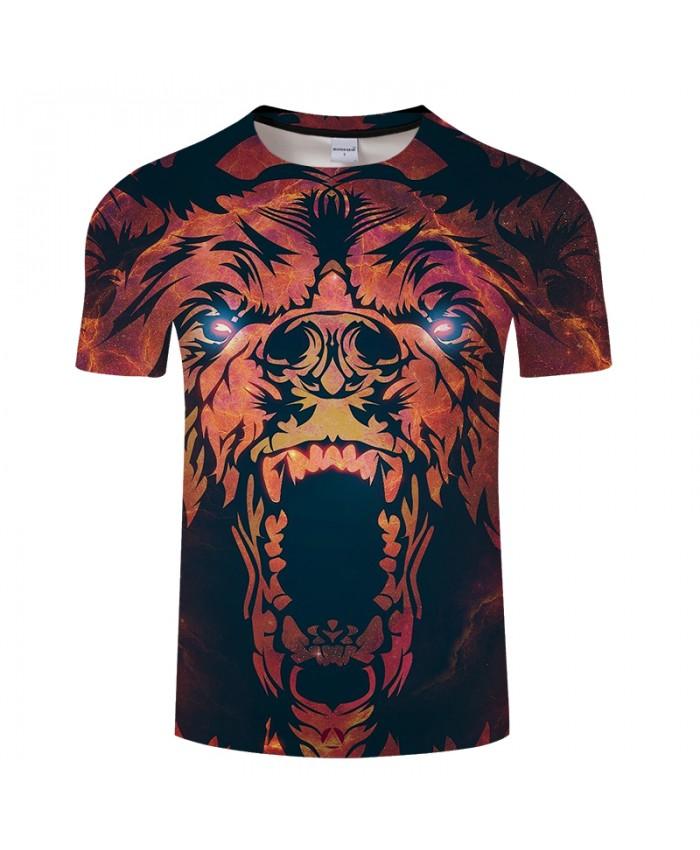 Fire Eye Dinosaur 3D Print t shirt Men Women tshirt Summer Animal Short Sleeve O-neck Tops&Tee Streetwear Drop Ship
