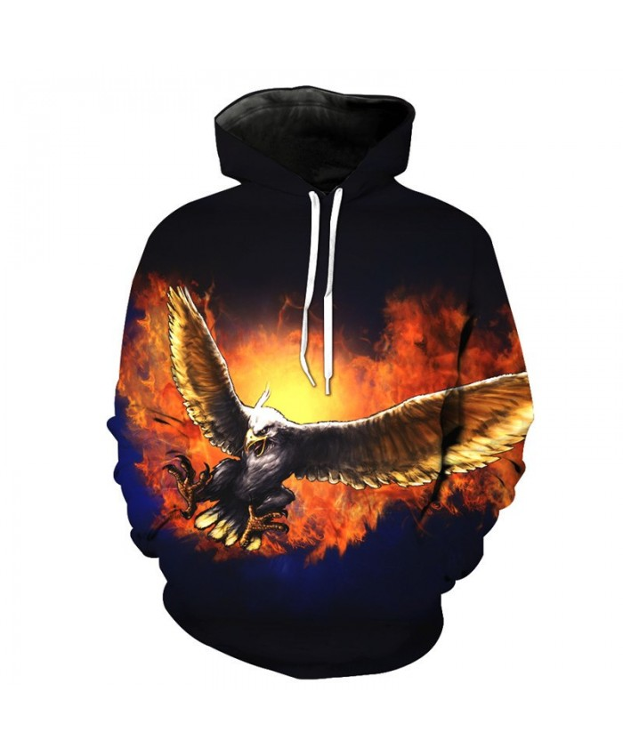 Fire Flying Eagle Cool Fashion Hoodies Men Women Sportswear Casual Hoodie Autumn Tracksuit Pullover Hooded Sweatshirt
