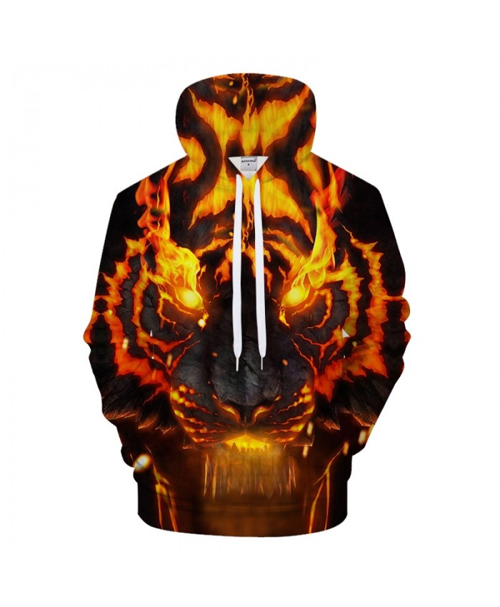 Fire Tiger Men Hoodies Sweatshirts Mens Hoody Anime Tracksuit 3d Printing Pullover Streetwear Coat Hip Hop Drop Ship