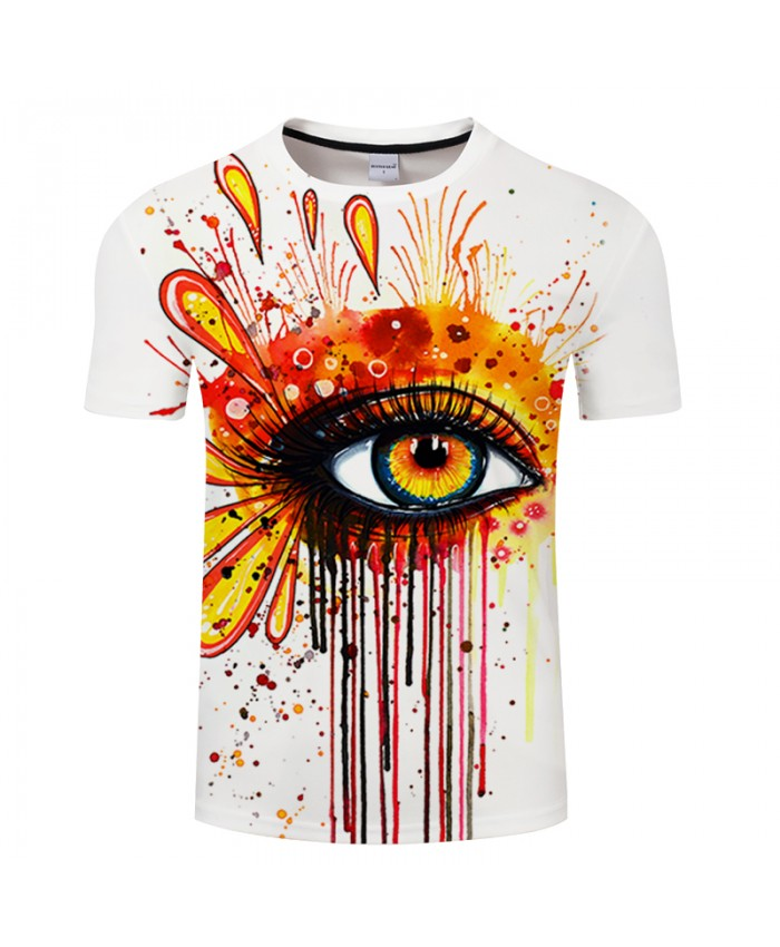 Fire and Ice by Pixie cold Art Eyes 3D T shirts Men T-shirts Male Camiseta Casual Tops Summer Tees Short Sleeve Funny Tshirts