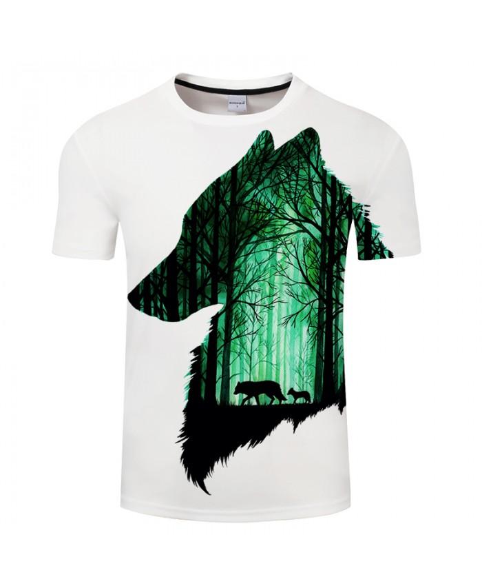 First Hurt By Girl Art 3D Printing T-shirt Wolf Men Tshirt Neutral T-shirt Casual Tee Shirt Homme Drop Ship