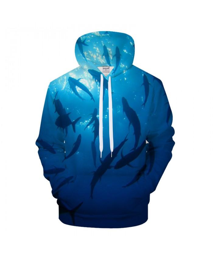 Fish Hoodie Men Sweatshirt 3D Kawaii Hoody Harajuku Tracksuit Casual Hooded Pullover Coat Male Streatwear Sea DropShip