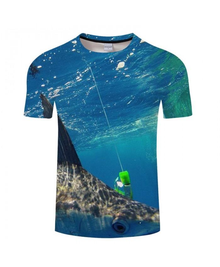 Fish Is Hooked 3D Print T Shirt Men tshirt Summer Casual Slim Men tshirt Short Sleeve O-neck Tops&Tee Drop Ship