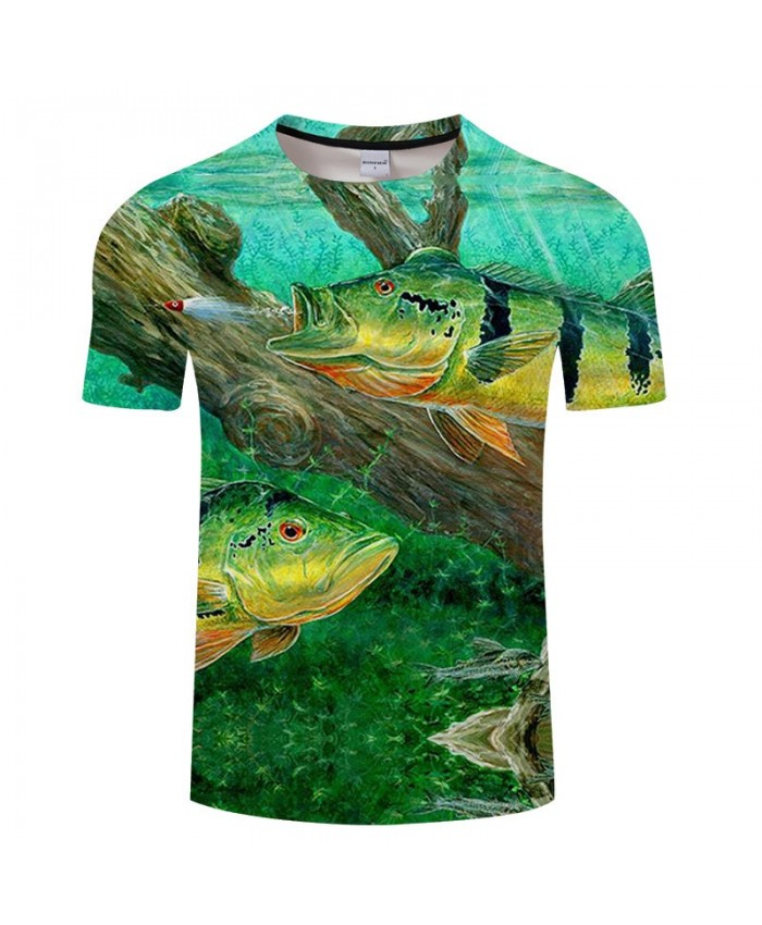 Fish Spit Bullet 3D Print T Shirt Men tshirt Summer Casual Slim Men 2019 New Short Sleeve O-neck Tops&Tee Drop Ship