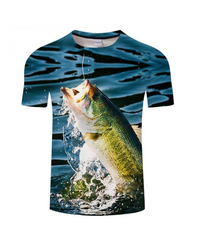 Fish Sunbathing 3D Print T Shirt Men tshirt Summer Casual Slim Men tshirt Short Sleeve O-neck Tops&Tee Drop Ship