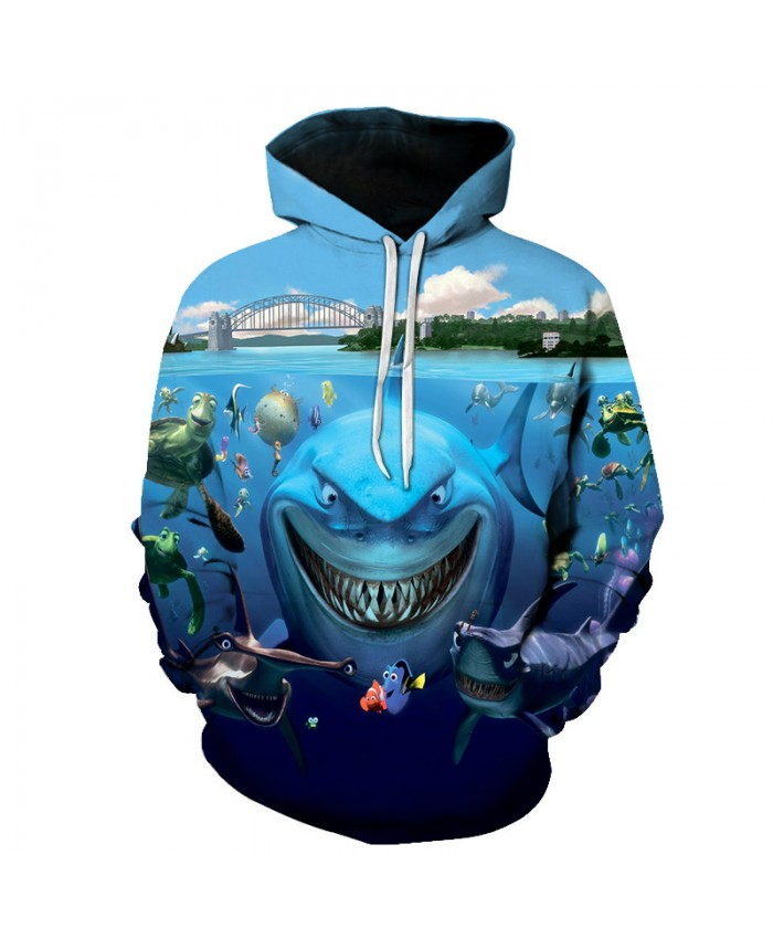Fish hoodie seaworld 3D men's sportswear sweatshirt unisex hoodie drop captain's sleeve pullover autumn and winter Big size S-6xL