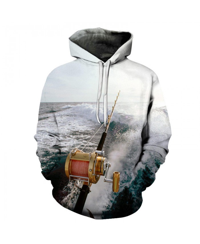 Fishing rod Print Hoodies 3d Anime Men Hoodies Male Sweatshirts Women Brand Pullover Fashion Tracksuits Drop Ship