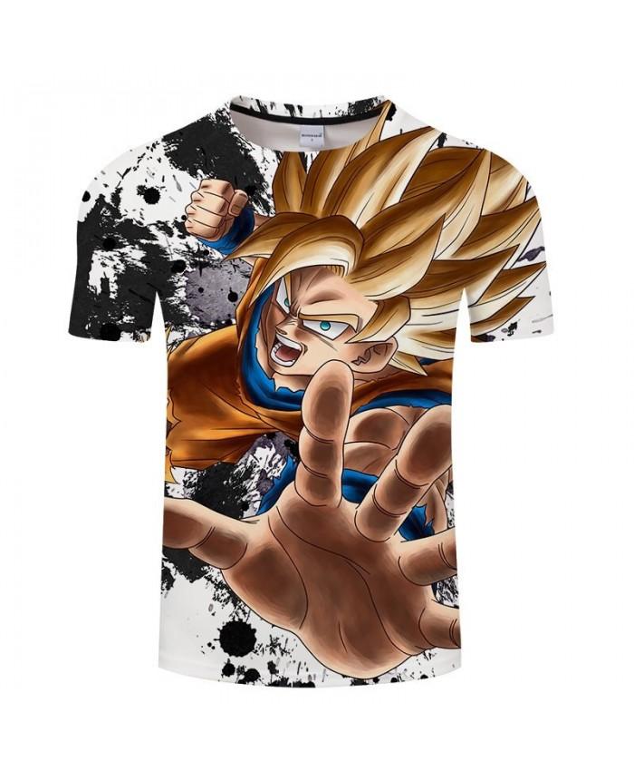 Five Fingers Open Cartoon Goku Dragon Ball 3D Print Men tshirt Anime Casual Short Sleeve Male O-neck Drop Ship