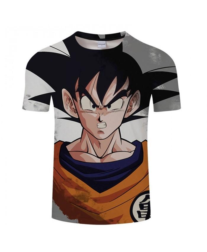 Five Senses Erect Cartoon Goku Dragon Ball 3D Print Men tshirt Anime Casual Short Sleeve Male Quick Dry Drop Ship