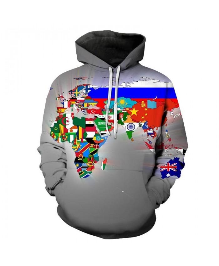 Flag Map 3D Printed Men Pullover Sweatshirt Pullover Hoodie Casual Fashion Hoodies Men Streetwear Sweatshirt Hoodie