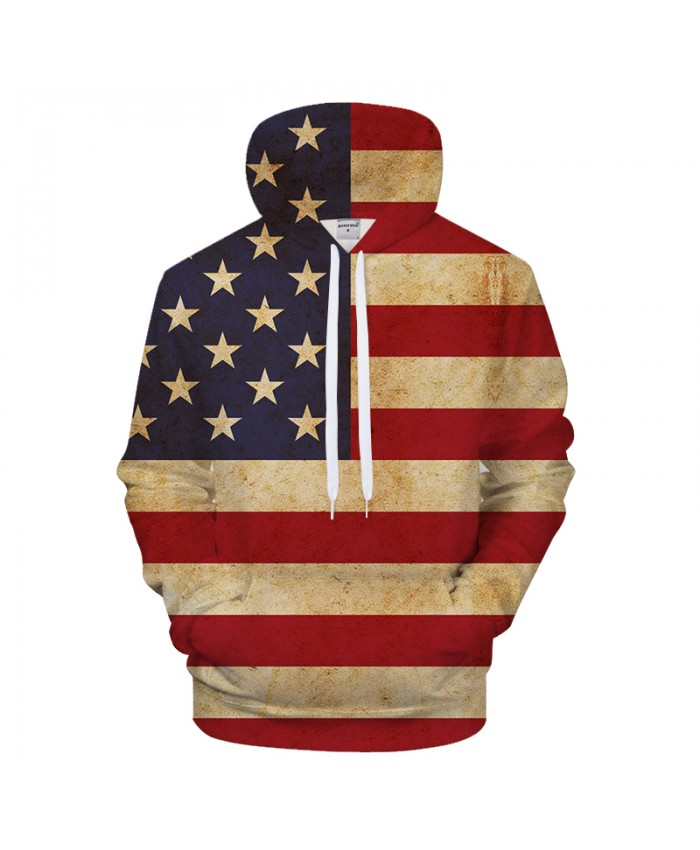 Flag Strip 3D Hoodies Print Hoody Men Sweatshirt Casual Tracksuit Harajuku Coat Streatwear Pullover Brand Drop ship