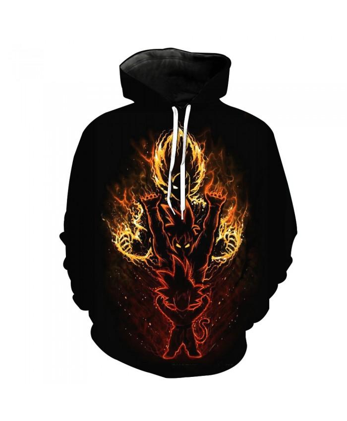 Flame Dragon Ball Goku Pocket Pullover Hoody Men/Women Hip Hop Print 3D Sweatshirt Character Hoodie Tracksuits Plus S-6XL