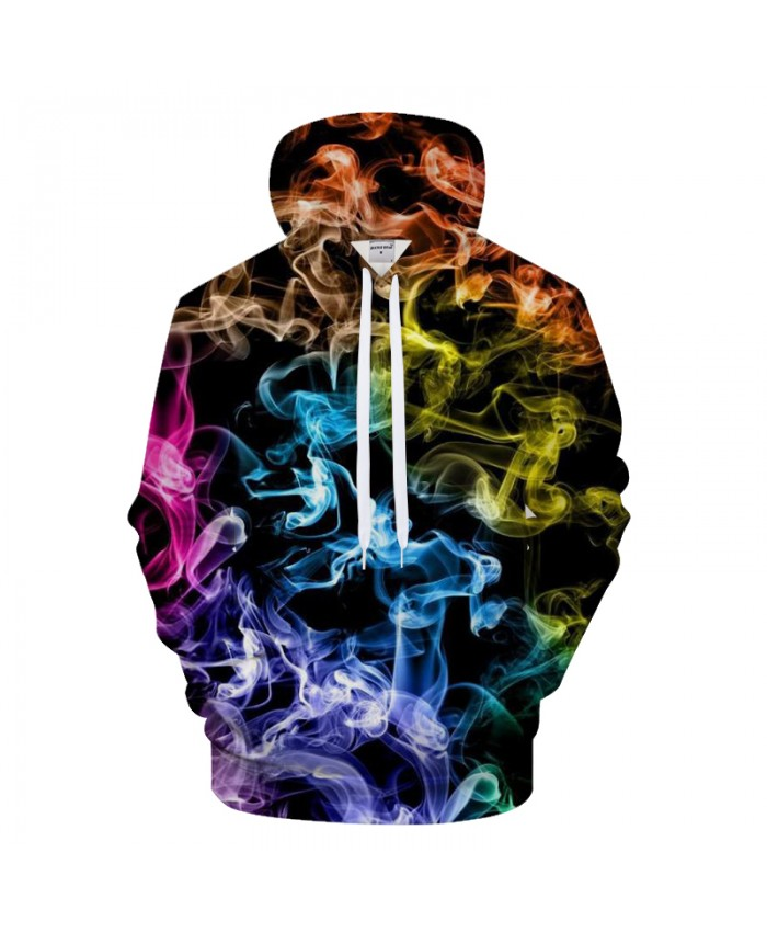 Flame&Smoky 3D Print Hoodies Men Casual Sweatshirt BrandTracksuit Pullover Unisex Coat Autumn Streatwear Drop Ship