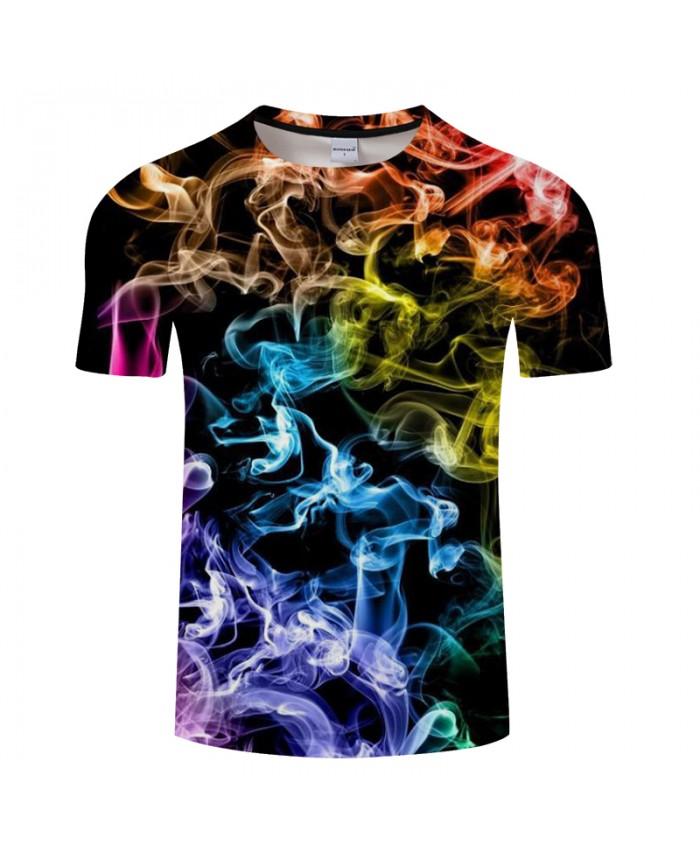 Flame&Smoky 3D Print t shirt Men tshirts Summer Casual Short Sleeve O-neck Tops&Tees Streetwear Groot HipHop DropShip