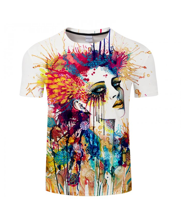 Flora by Pixie cold Art Colorful Girl Printed 3D Men T shirts Unisex T-shirts Funny Tshirts Tops Male Brand Tees Camisetas