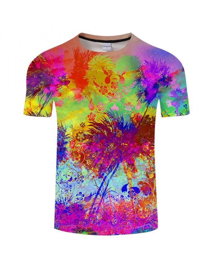 Flower&Leaf 3D Print t shirt Men Women tshirt Summer Funny Short Sleeve O-neck Tops&Tee Bright Streetwear Drop Ship