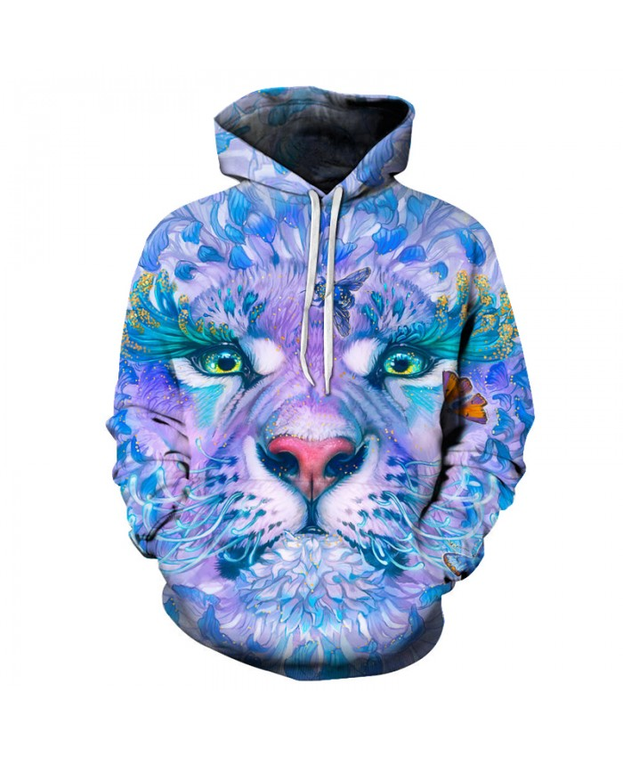 Flower Tiger Butterfly 3D Hoodies Printed Sweatshrit Men Women Quality Hot Pullover Fashion Tracksuit Male Coats 6XL Outwear